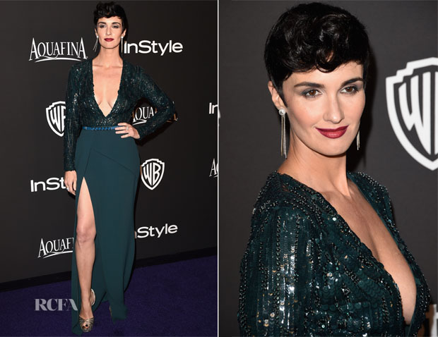 Paz Vega In Elie Saab - 2015 InStyle and Warner Bros