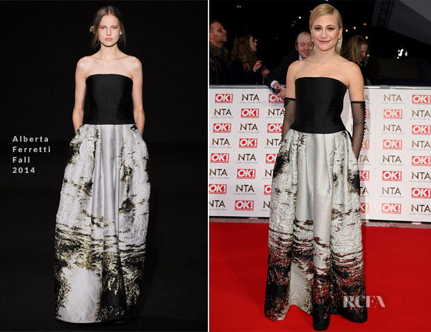 Pixie Lott In Alberta Ferretti - 2015 National Television Awards
