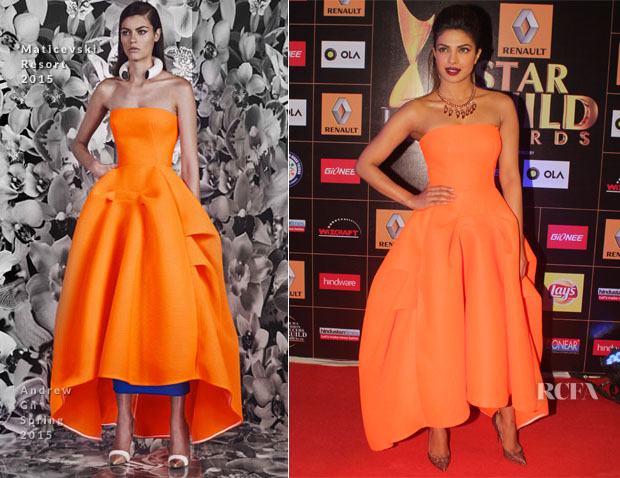 Priyanka Chopra In Maticevski -  Star Guild Awards