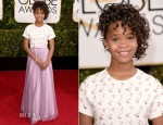 Quvenzhane Wallis In Giorgio Armani - 2015 Golden Globe Awards