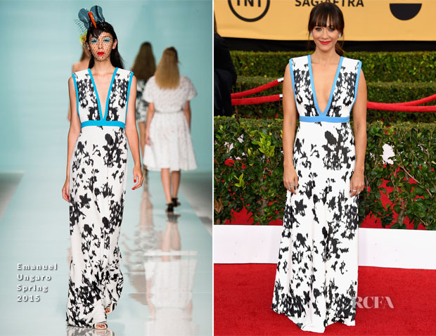 Rashida Jones In Emanuel Ungaro - 2015 SAG Awards