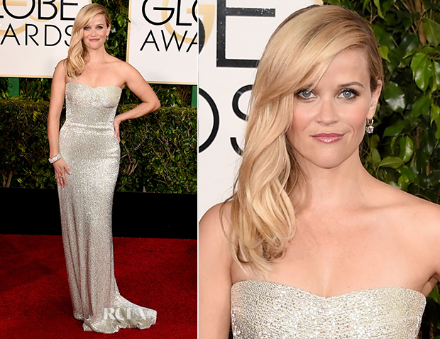 Reese Witherspoon In Calvin Klein Collection - 2015 Golden Globe Awards