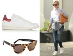 Reese Witherspoon's Étoile Isabel Marant Bart Leather Sneakers & Westward Leaning Louisiana Purchase Sunglasses