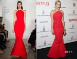 Rita Ora In Zac Posen - 2015 Weinstein Company and Netflix Golden Globes After Party