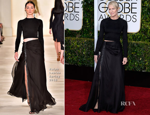 Robin Wright In Ralph Lauren S15 - 2015 Golden Globe Awards