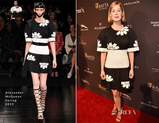 Rosamund Pike In Alexander McQueen - 2015 BAFTA Tea Party