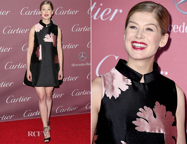 Rosamund Pike In Alexander McQueen - 26th Annual Palm Springs International Film Festival Awards Gala