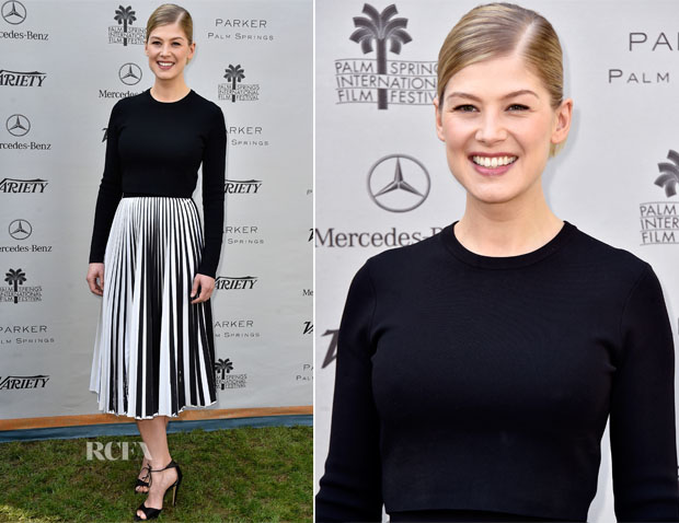 Rosamund Pike In Proenza Schouler - Variety's Creative Impact Awards And 10 Directors To Watch Brunch