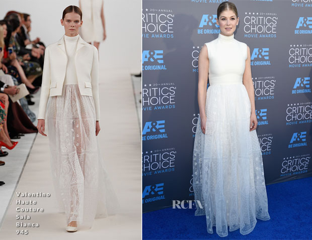 Rosamund Pike In Valentino Couture - 2015 Critics' Choice Movie Awards