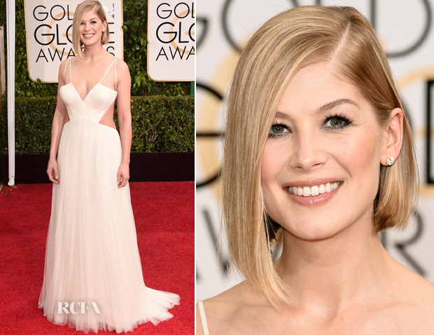 Rosamund Pike in Vera Wang - 2015 Golden Globes