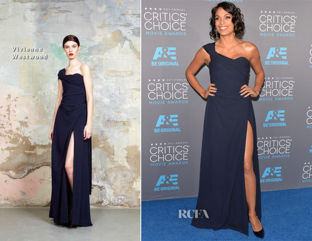 Rosario Dawson In Vivienne Westwood - 2015 Critics' Choice Movie Awards