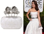 Salma Hayek's Alexander McQueen Embroidery Moon and Star Knucklebox Clutch