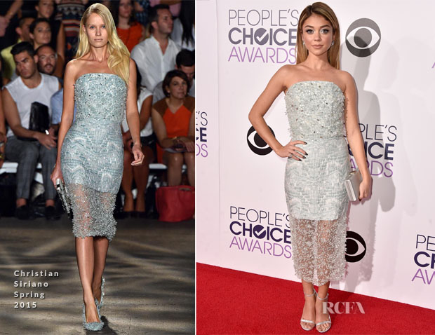 dbf91d0432e Sarah Hyland In Christian Siriano - 2015 People s Choice Awards ...