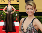 Sarah Hyland In Vera Wang - 2015 SAG Awards