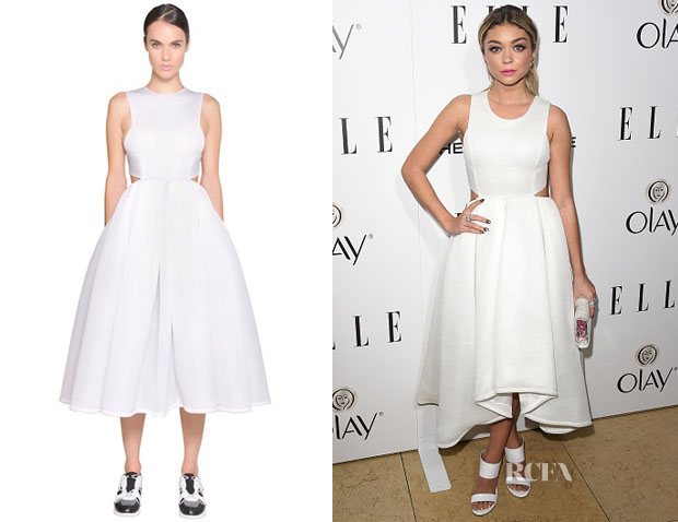 Sarah Hyland's DKNY Techno Neoprene Mesh Dress