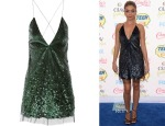 Sarah Hyland's Marc Jacobs Sequined Tulle Mini Dress