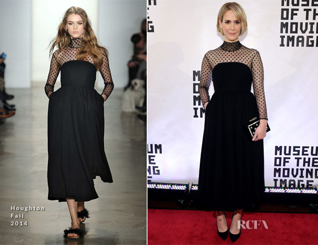 Sarah Paulson In Houghton - Museum Of The Moving Image Gala Salute