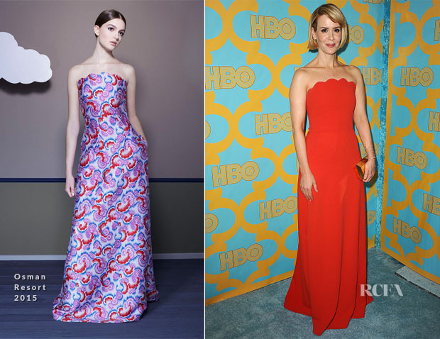 Sarah Paulson In Osman - HBO's Post-Golden Globe Awards Party