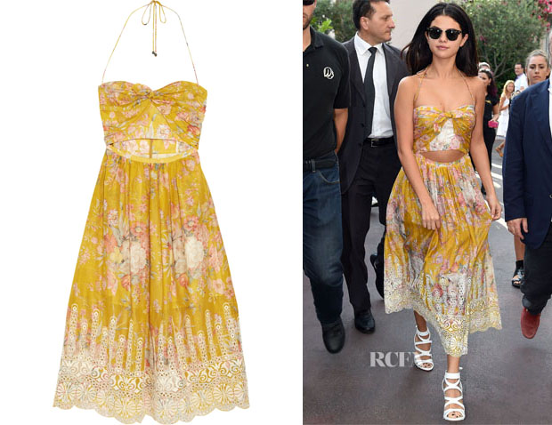 Selena Gomez's Zimmermann Confetti Floral-Print Cotton Dress