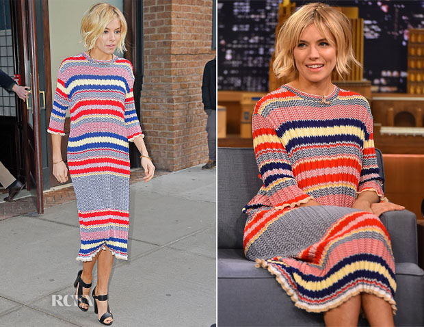 246fed51d92 Sienna Miller In Celine - The Tonight Show Starring Jimmy Fallon ...