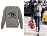 Sienna Miller's Alexa Chung for AG The New Wave Slogan Sweatshirt