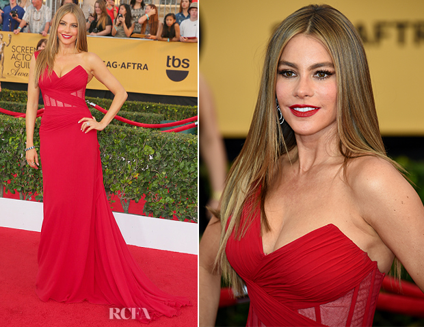 Sofia Vergara In Donna Karan Atelier - 2015 SAG Awards