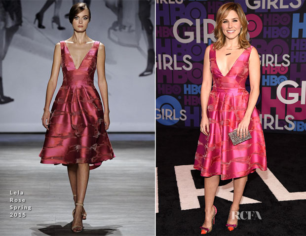 Sophia Bush In Lela Rose - 'Girls' Season Four Premiere
