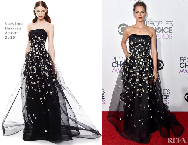 Stana Katic In Carolina Herrera - 2015 People's Choice Awards