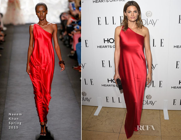 Stana Katic In Naeem Khan - ELLE's Annual Women in Television Celebration