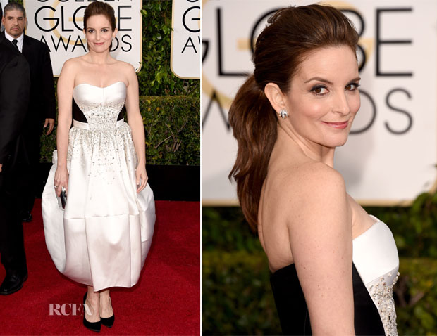 Tina Fey In Antonio Berardi - 2015 Golden Globe Awards