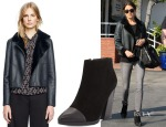 Tory Burch Caroline Reversible Jacket & Tory Burch Rivington Chunky Booties