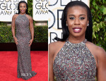 Uzo Aduba In Randi Rahm - 2015 Golden Globe Awards