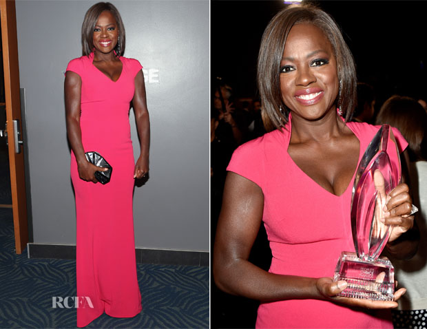 Viola Davis In Escada - 2015 People's Choice Awards