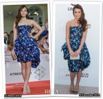 Who Wore Oscar de la Renta Better...Aura Garrido or Lea Michele?