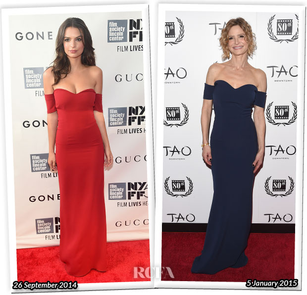 Who Wore SAFiYAA Better Emily Ratajkowski or Kyra Sedgwick