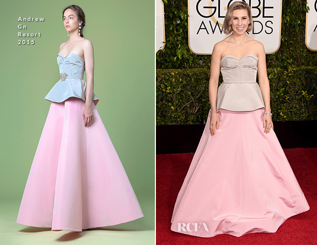 Zosia Mamet In Andrew Gn - 2015 Golden Globe Awards
