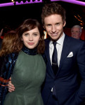 Felicity Jones in Christian Dior and Eddie Redmayne in Ralph Lauren