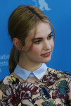 Lily James in Mary Katrantzou