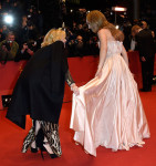 Cate Blanchett in Givenchy and Lily James in Dior