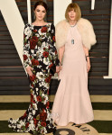 Bee Shaffer In Dolce & Gabbana and Anna Wintour In John Galliano for Maison Margiela - 2015 Vanity Fair Oscar Party