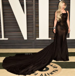 Lady Gaga In Alaia - 2015 Vanity Fair Oscar Party