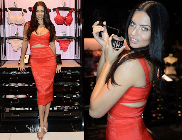Adriana Lima In Donna Karan - Victoria's Secret Valentine's Day Event