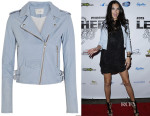 Adriana Lima's IRO Ashville Leather Biker Jacket