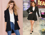 Adrienne Bailon's Nasty Gal Zophia Full Skirted Blazer