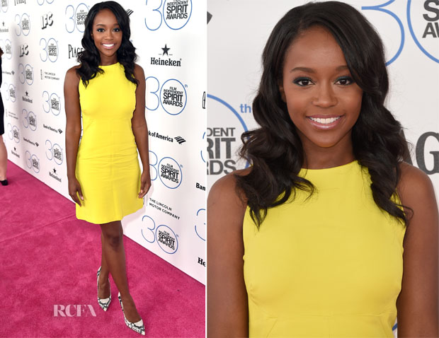 Aja Naomi King In ALC - 2015 Film Independent Spirit Awards