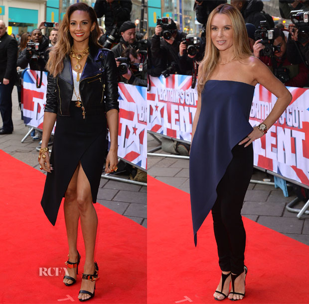 Alesha Dixon In Valentino & Balenciaga & Amanda Holden In Balenciaga - Britain's Got Talent London Auditions