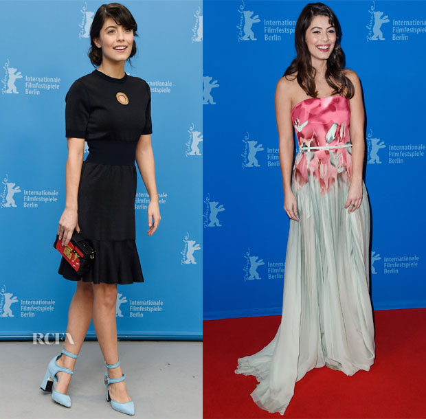 Alessandra Mastronardi In Louis Vuitton & Elie Saab - 'Life' Berlin Film Festival Photocall & Premiere