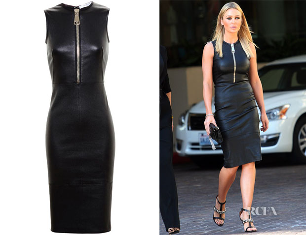 Alex Gerrard's Givenchy Leather Dress
