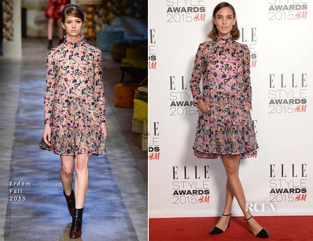 Alexa chung in erdem 2015 Elle Style Awards