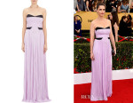 Amanda Peet's J. Mendel Pleated Bustier Gown